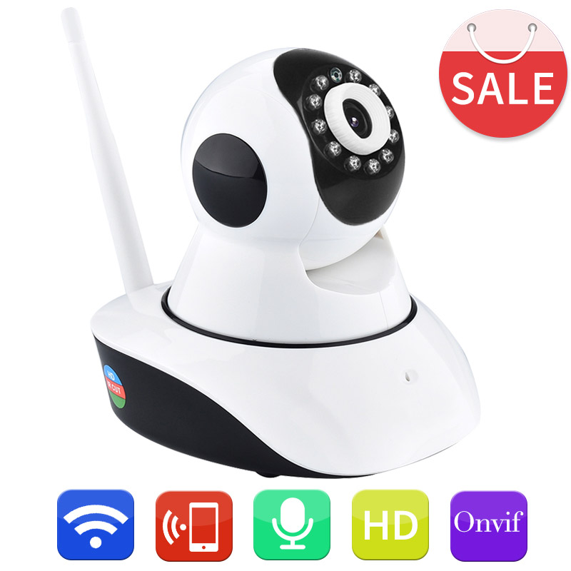 Home Security Surveillance HD 720P WIFI IP Camera Pan Tilt with Two-way Audio Ir-cut Night Vision ONVIF WiFi ONVIF P2P CAMHI APP<br>