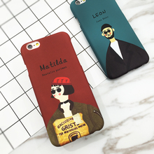 Movie Image Case Mathilda Leon The Professional Coque Hard Plastic Matte Phone Cases For iPhone 7 6 6S Plus SE 5 5S Cover Shell