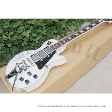 OEM Guitars Gb lp custom white electric guitar 3 pickups bigsby bridge / lp hard case(China)
