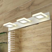 Three module 15W Length 48cm LED mirror lamp Europe Simplicity modern bedside wall bathroom Sconce lighting AC90-260V