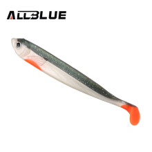 ALLBLUE 3pc/lot 9g/12cm Handmade Soft Bait Fish Fishing Lure Shad Manual Silicone Bass Minnow Swimbait Plastic Lure Pasca Peche