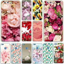 Pink Pretty Peony Daisy Sunflower Rose Plants Flower Hard Case Cover for Huawei P8 P9 P10 Lite Plus & Honor 8 Lite 6 7 4C 4X