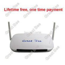 2017 the best Great Bee Arabic IPTV box android 4.4 wifi HDMI with free subscription free DHL shipping