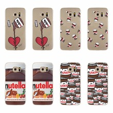 TPU Case For Samsung S3 S4 S5 mini S6 S7 Edge Plus Note 3 4 5 Note4 A3 A5 J5 J7 A310 A510 J510 J710 2016 Nutella Juice Gel Cover