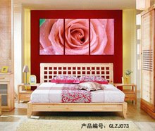 Cheap 3 Piece Hot Sell Modern Wall Painting pink rose Home Decorative Art Picture Paint on Canvas Prints