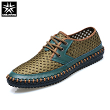 URBANFIND Breathable Men Casual Summer Shoes Size 38-44 Mesh Upper Footwear Man Fashion Lace-up Shoes(China)