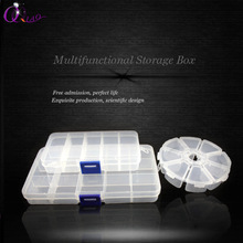 plastic hot deals 10/15/24 slots Compartment Slot Organizer Storage Beads adjust jewelry storage box(China)