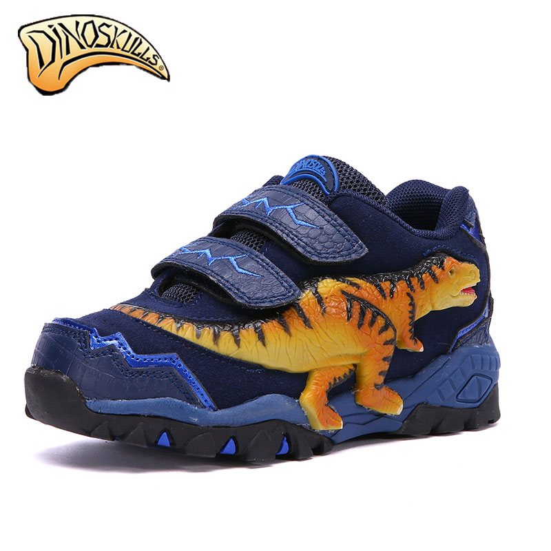 Dinoskulls New 2018 Kids boys shoes Tyrannosaurus rex 3D leather sports sneakers children shoes for boys spring autumn<br>