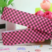 7/8'' Free shipping ginger's Plaid pattern printed grosgrain ribbon hairbow diy party decoration wholesale OEM 22mm P1922