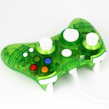 2016 Brand New & High Quality Fashion Green Mini Transparent Game Pad Usb Controller Joypad For Xbox 360 Free Shipping