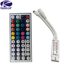 GBKOF 1pcs 12V 6A 44Key MINI IR Remote RGB led Controller for Flexible SMD3528 5050 5630 2835 RGB LED SMD Strip Lights