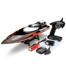 Large 65cm FT010 2.4G RC Racing Boat Remote Control Brushed Speedboat  High Speed 35KM/H Water Cooling System Toys VS FT012