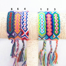 Friendship Bracelet Handmade Charm Woven Rope String Hippy Boho Embroidery Cotton Friendship Bracelets For Men Women(China)