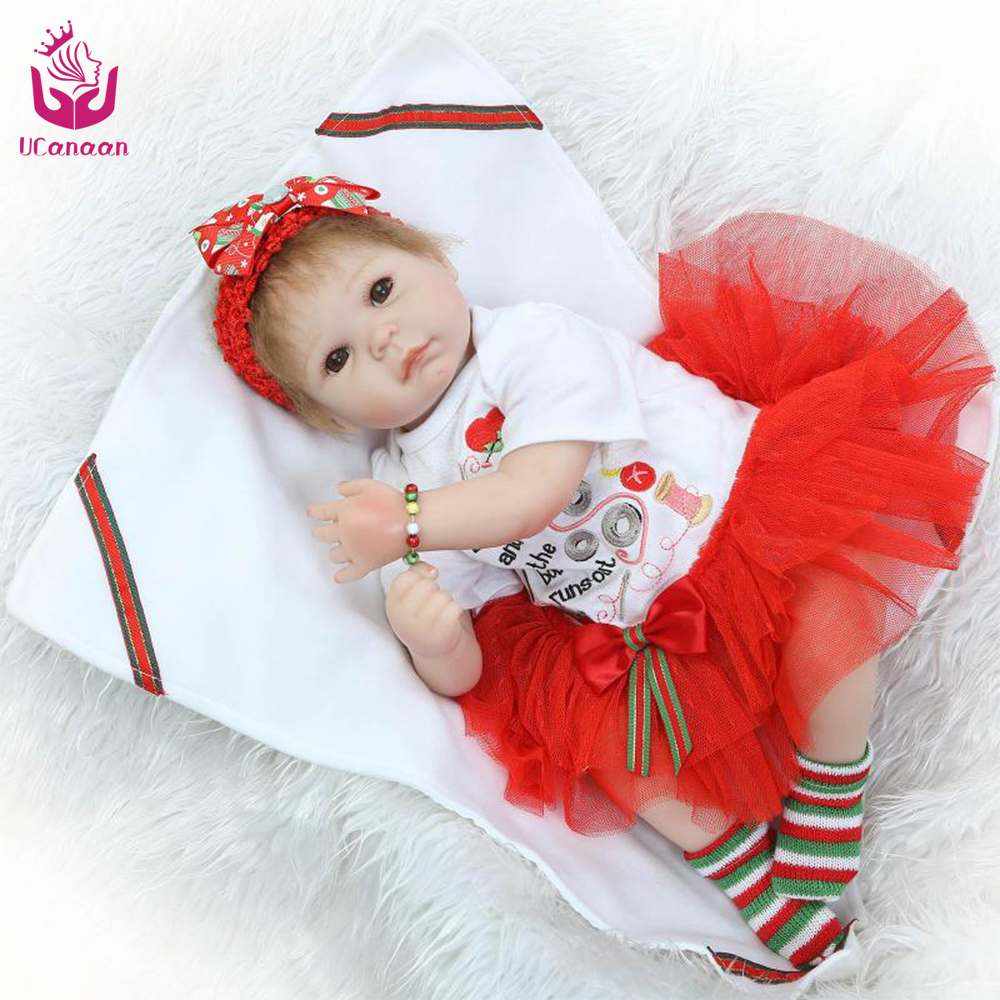 UCanaan New Arrived  50-55cm Safety Silicone Reborn Doll Toys The Best Christmas&amp;New Year  Gift For Your Babies or Your Lovers<br><br>Aliexpress