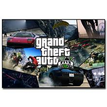 Grand Theft Auto V Game Art Silk Fabric Poster Huge Print 12x18 32x48 inches GTA 5 Wall Pictures For Living Room 11