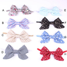 Wholesale baby newborn infant headband bow dot knot headwrap thin elastic headbands children girls hair accessories 20pcs/lot