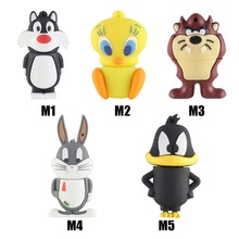 cartoon Bear Daffy Duck Bugs Bunny Cat Tweety Bird USB 2.0 Flash Drive U Disk Creativo Pendrive/Memory Stick/Gift 4G 8G 32G(China)