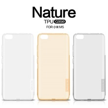 Nillkin nature Transparent Clear Soft silicon TPU Protector case cover for xiaomi mi5 (5.15 inch ) free shipping retail package(China)