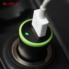 RAXFLY Universal High Quality Single USB Car Phone Charger One Port 5V 2.1A Black Car Charger Universal Tablet PC Power Adapter