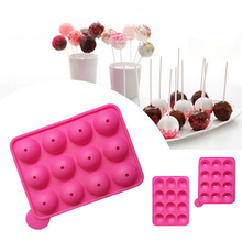 Silicone Party Cake Mold Chocolate Cookie Lollipop Pop Mould Tray Stick Sucker Decorating DIY CakeSoft sweets Tools