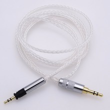 1.2M 8 cores Hi-end 5N OCC Litz braid Silver plated HIFI Cable for Sennheiser Momentum Headphone Upgrade Cable