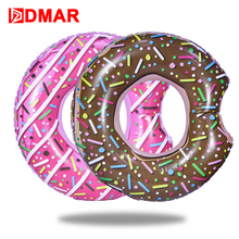"DMAR 107cm 42"" Inflatable Donut Swimming Ring Giant Pool Float Toys Swimming Circle Beach Sea Inflatable Mattress Adult Kid Gift(China)"