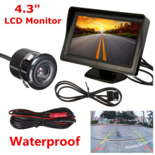Newest 4.3 Inch Car Rear View Backup Camera Monitor System with LCD Display Rear Reverse Parking Camera Kit Set Drop Shipping(China)
