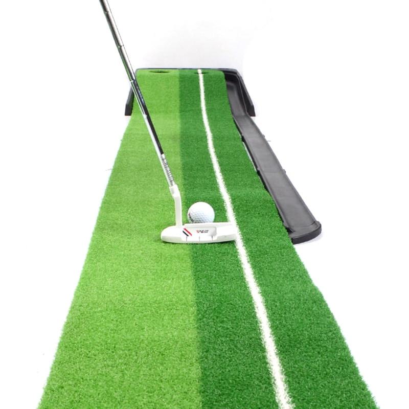 PGM indoor Golf Putter Practice Set Putting Green Trainer Green Mat Automatic Return Fairways Equipment Golf Training Aids (3)