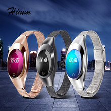2017 Ladies Fashion Smart Bracelet Z18 IP67 Waterproof Bluetooth Wristbands with 60mah Battery Monitor Band Wristwatch as gift(China)