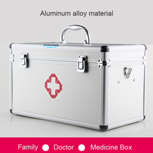 Multifunctional home large medical box practical family/hospital emergency medicine collection aluminum hand-held drug box