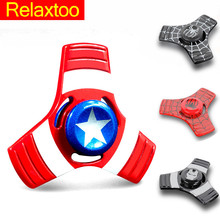 Buy Super Hero Metal Fidget Puzzle Spinner Hand Relieve Stress UFO Spiderman Finger Spinner Adult Kid Relax Toy Tri-spinner for $3.13 in AliExpress store