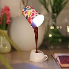 Mabor Luminaria DIY Night Light USB Pour Coffee Cup Mug LED Desk Table Lamp Home Gifts