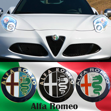 74mm Car styling Specials Color for ALFA ROMEO red cross Logo emblem Badge sticker for Mito 147 156 159 166