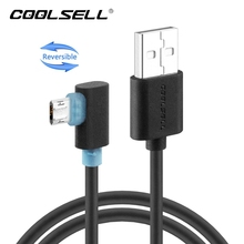 COOLSELL Reversible Micro USB Cable 90 Degree Fast Charging Data Sync Cords Left Right Angle Cable for iPhone 5 6 7 Samsung