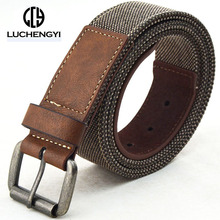 [LCY] Designer Belts Men High Quality Canvas PU Leather Belt for Men Cowboy Jeans Mens Belts Luxury ceintures homme 400050