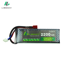 Limskey Power 7.4V 2200mah 25C Max 40C T Plug Lipo Battery for RC Qudcopter Helicopter Airplane Car Traxxax 1/16 Revo Toy(China)