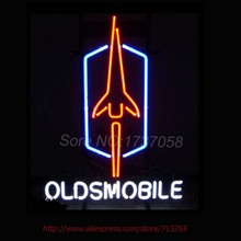 Oldsmobile NEON SIGN Basketball Neon Bulbs Neon Light Signs Custom Real Glass Tube Recreation Window Garage Wall Sign Art 19x15