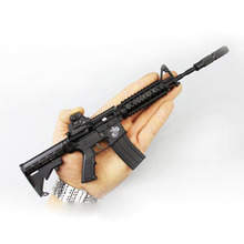 allumen Metal removable 1:3 American camouflage M4 gun model not available for launch Online game toy model Army fan equipment(China)