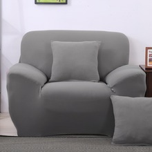 Elastic Stretch sofa cover Slipcover Solid color chair couch sofa cover Silver gray wrap sofa