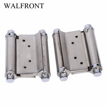 2Pcs 3'' Inch Door Hinges Cabinet Drawer Butt Hinge Door Swing Stainless Steel Door Hinges artesanato With Screws Hardware New(China)