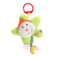 Pull Ring Bed Hanging Plush Doll Star Pattern Baby Kids Soft Stuffed Hand Grasp Music Toy Stroller Crib Bed Hanging Rattle Toy(China)