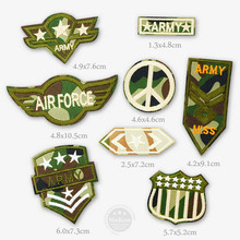 AIRFORCE ARMY MISS Patch Badges Patches Badge Embroidered Applique Sewing Iron On Patch Clothes Garment Apparel Accessories
