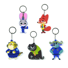5 Styles Zootopia Key Chains Rabbit Judy Hopps Fox Nick Wilde Sloth Flash Movie Zootropolis Zootopia Figure Keychain Gift
