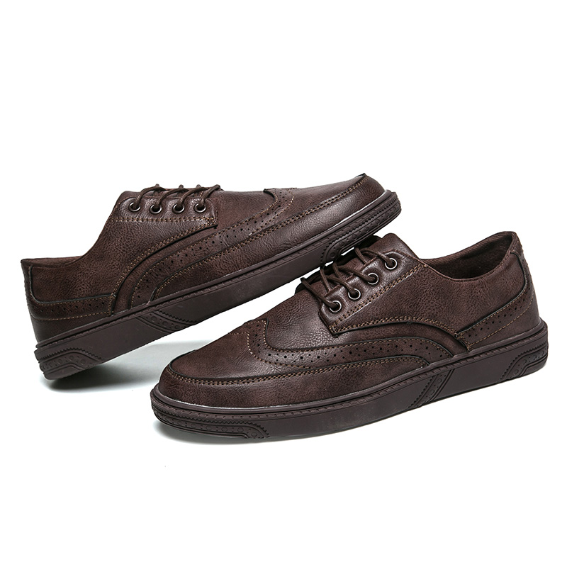 ... men dress shoes leather brogue oxfords luxury italian brand retro  classic male footwear cool designer comfort ... f57c4386032