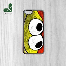 New Popular Eyed Smile Printing Rubber Mobile Phone Accessories Bag For iPhone 6 6s And 4 4s 5 5s 5c 6 Plus Case Cover(China)
