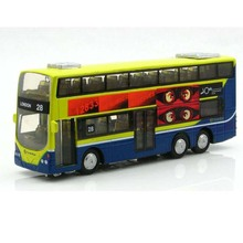 In Stock Lowest Price Sale 1:50 Mini Metal Car Model Toys Car London Bus Toys For Children Sound With Flashing Can Open Door(China)
