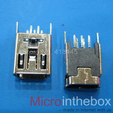 Mini usb connector 20pcs female DIP 5Pin Vertical Straight foot  mini usb jack