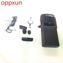 oppxun New Black Housing Case Front Cover Shell Surface+Dust Cover+Knob For Motorola GP328 PRO5150 GP340  Radio Accessories
