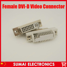 DVI 29Pin to PCB 90 Degree Female Connector Plug 24+5 Pin Female socket/Plug/jack for Video Audio display