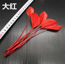 20pcs13-18cm Long Beautiful Goose Trim Dress Hat Necklace Earrings Wedding Accessories DIY Decoration(China)